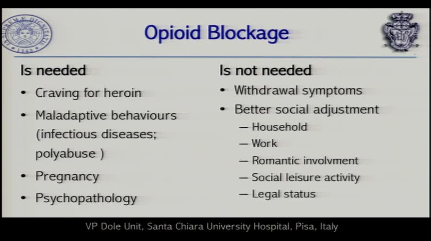 Over the top of blocking dosages and the concept of 'opioid debt'