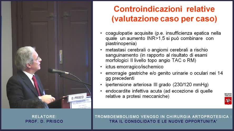 Indirizzi di comportamento per la profilassi del TEV in ortopedia Linee Guida Toscane e Consensus SIOT, OTODI, SIAARTI e SISET
