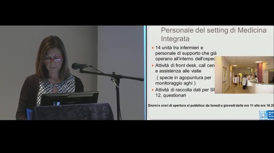 Il setting clinico di Medicina Integrata nell'assistenza al paziente ricoverato nel Centro di MI di Pitigliano