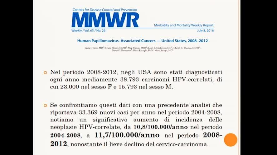 Inquadramento delle manifestazioni cliniche dell'HPV nell'uomo