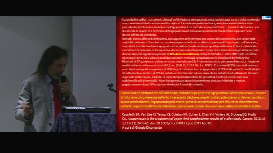 Agopuntura e MTC in oncologia e EBM