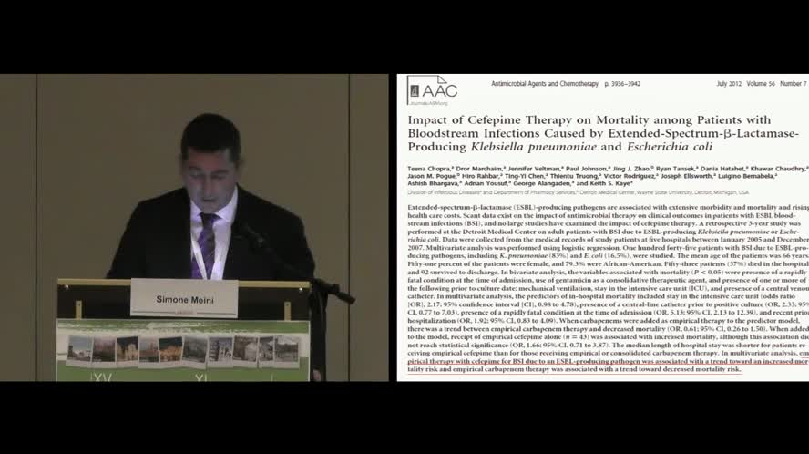 Infezioni da Enterobacteriaceae ESBL+: strategie di trattamento
