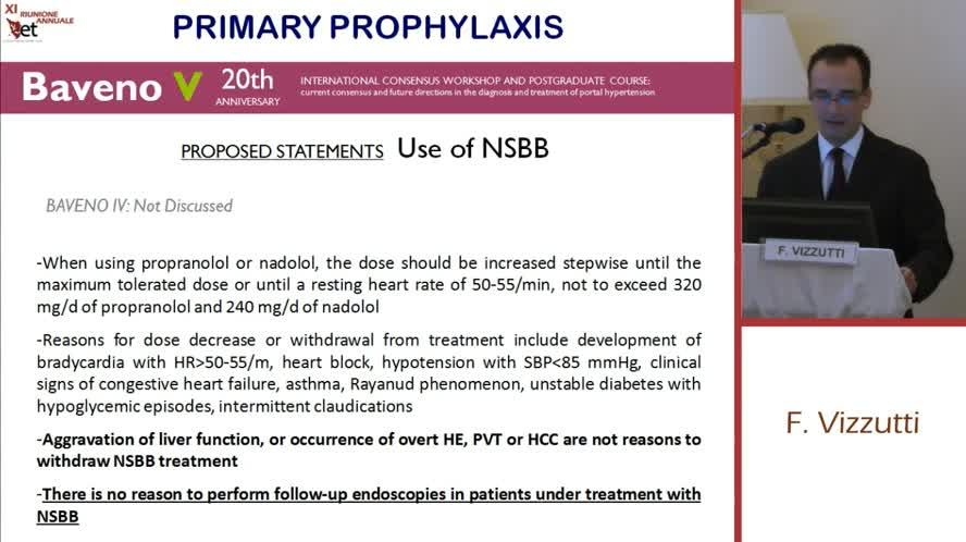 Ipertensione portale  profilassi primaria e secondaria del sanguinamento da varici