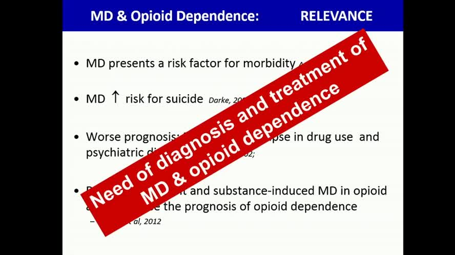 Depression and Opioid Dependence: State of the Art