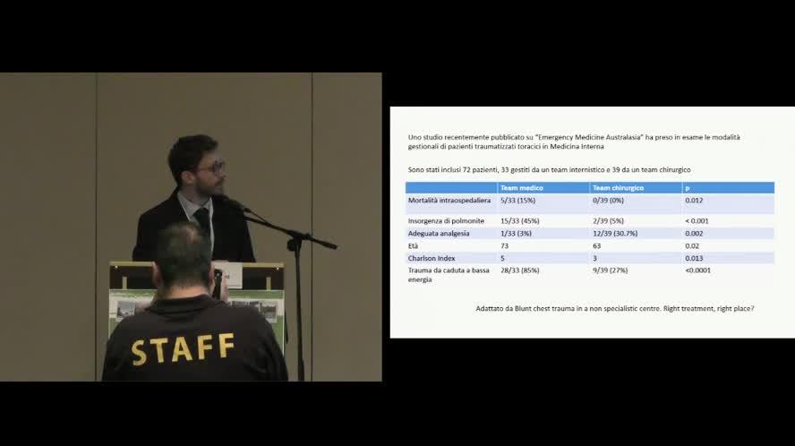 Epidemiologia del trauma nei reparti internistici
