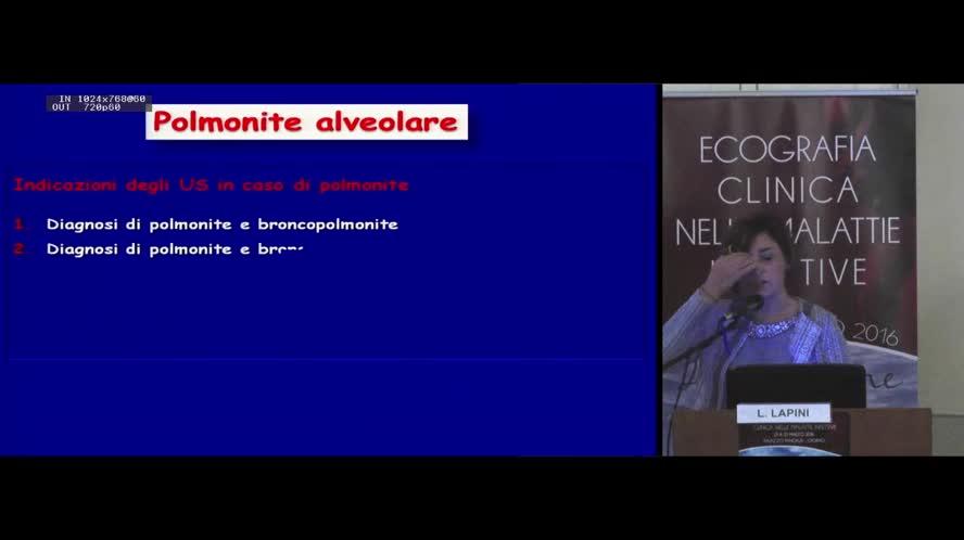 Ecografia nelle polmonitie nelle pneumopatie infettive