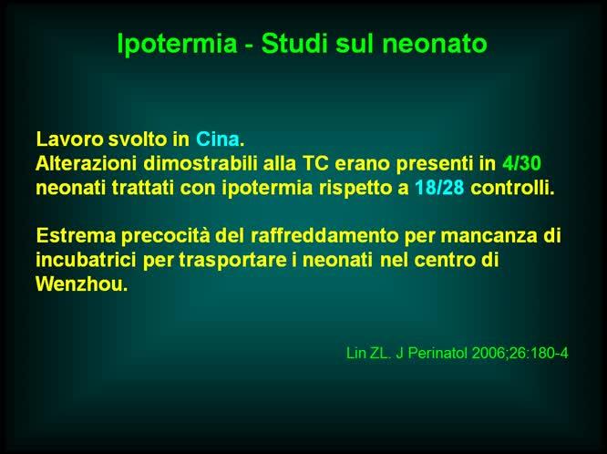 L'ipotermia nella asfissia neonatale come e quando