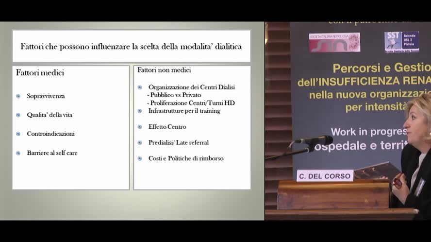 La fase predialitica e la scelta della terapia dialitica.