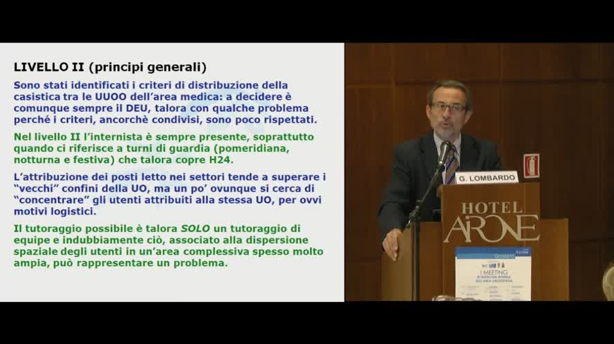 Organizzazione dei livelli di intensità di cura in Medicina Interna: esperienze in Toscana