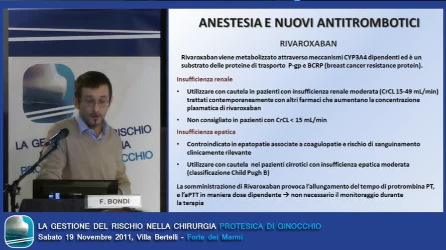 Anestesia e nuovi antitrombotici