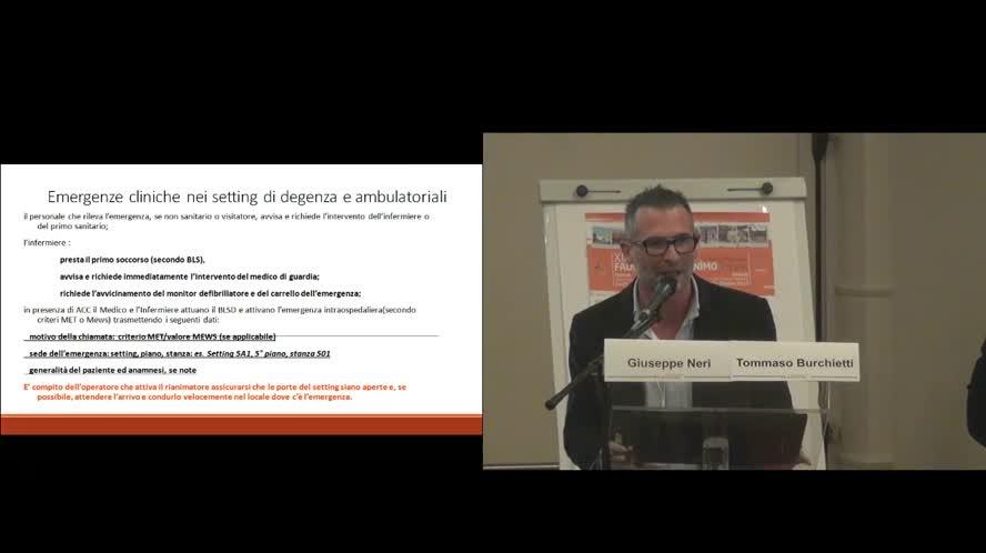 Riconoscimento del paziente critico e prevenzione ACR