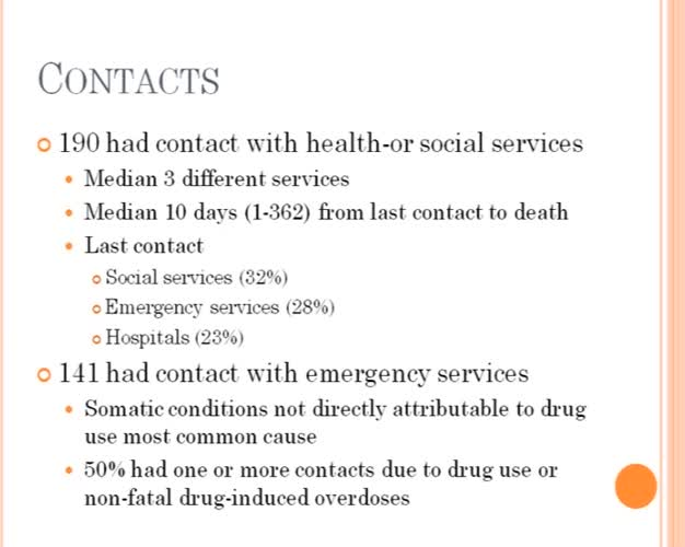 Three years overdose mortality in Oslo. An investigation of types of overdose deaths and preventive efforts