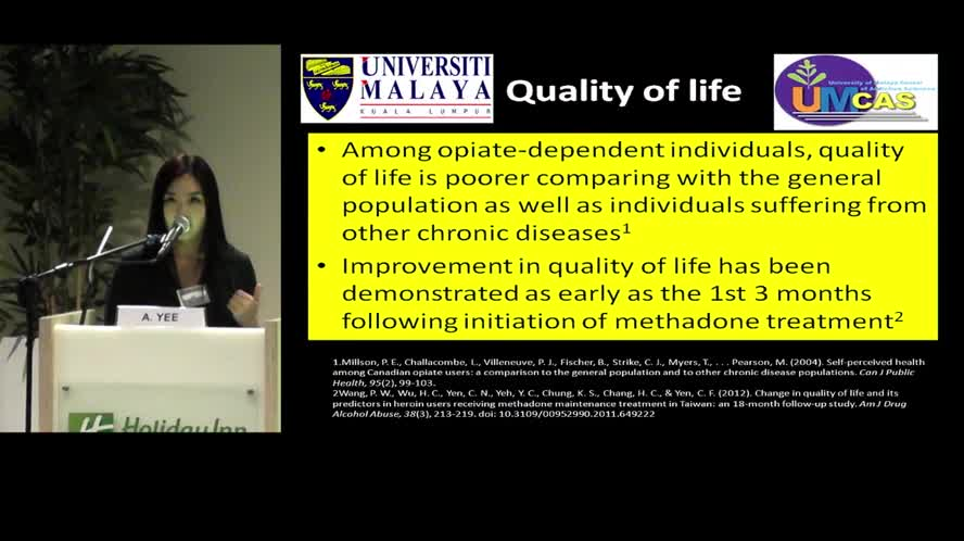 Physical health and their impact on quality of life among male patients on methadone maintenance therapy