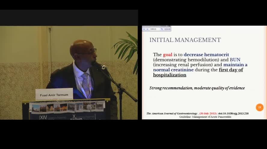 Pancreatite acuta non litiasica: terapia evidence-based
