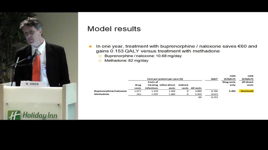 Pharmacoeconomic evaluation of opioid substitution treatment in Slovenia