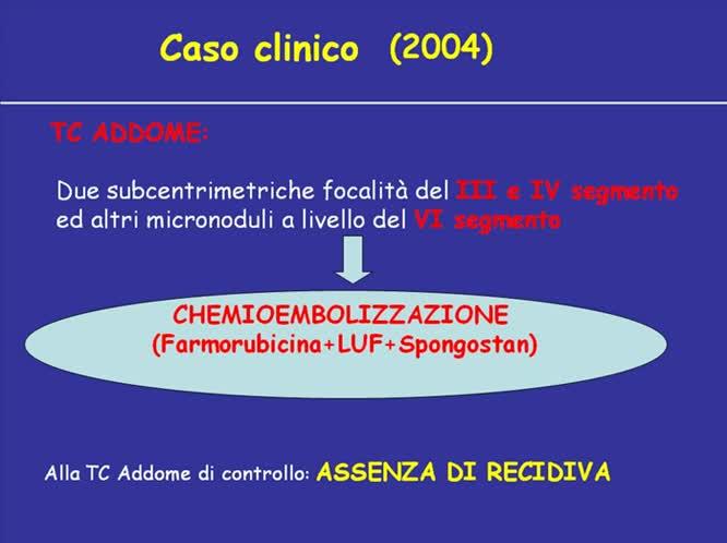 Recidiva di HCC post trapianto trattamenti multipli