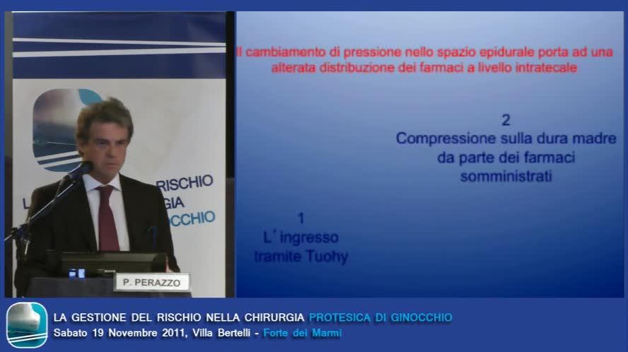 Anestesia spino-peridurale rischio utilizzo complicanze