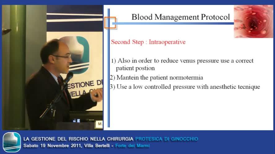 Gestione e protocolli per il risparmio sangue gestione del recupero perioperatorio
