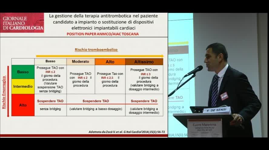 Impianti pace-maker sotto terapia anticoagulante