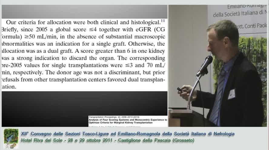 Novità sul trapianto di rene nell'anziano