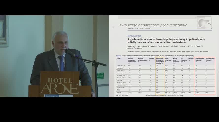 Il concetto di resecabilità della malattia sincrona e metacrona
