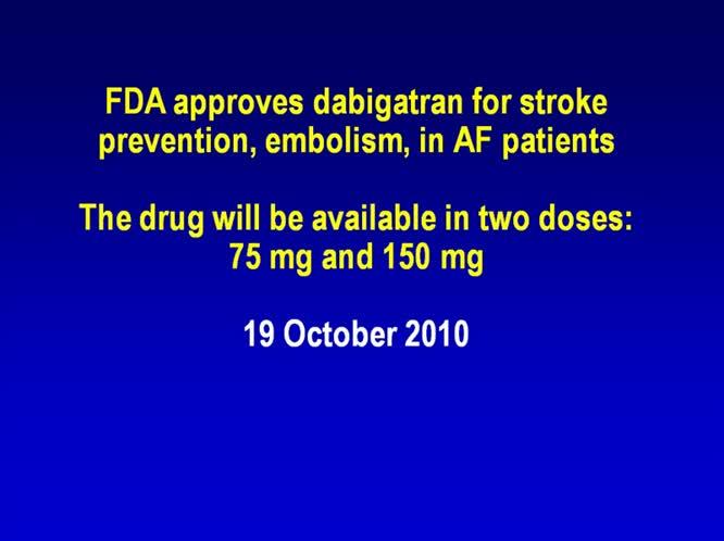 I nuovi farmaci anticoagulanti