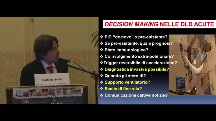 Decision-making nelle interstiziopatie acute