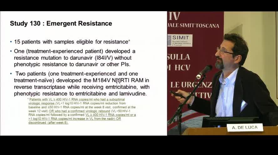 Lettura: Strategie terapeutiche attuali nell'infezione da HIV