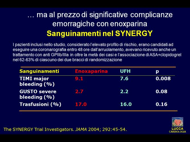 Trattamento medico del paziente con sindrome coronaria acuta senza ST sopraslivellato linee guida europee ed americane a confronto
