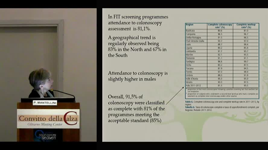 Screening programms in colon cancer