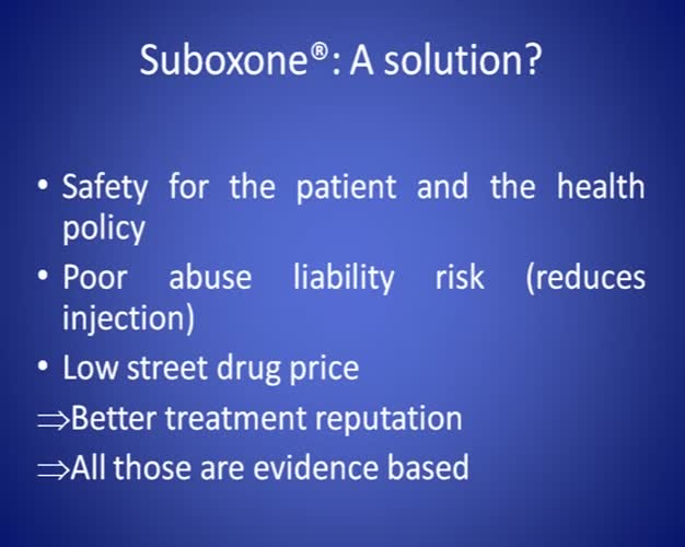 Buprenorphine naloxone (suboxone) in France: long is the road, second step